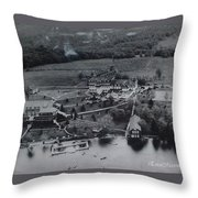 White Roe Lake Hotel-catskill Mountains Ny Throw Pillow
