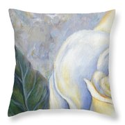 White Rose One Panel One Of Four Throw Pillow