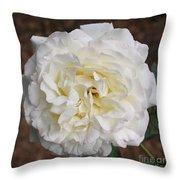 White Rose Square Throw Pillow