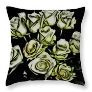 White Roses - Moving On Throw Pillow