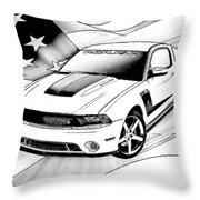 White Roush Mustang Throw Pillow