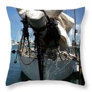 White Sail   Throw Pillow