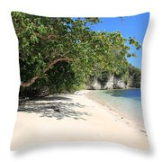 White Sand And Blue Sky Throw Pillow