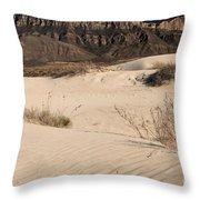 White Sand Below Throw Pillow