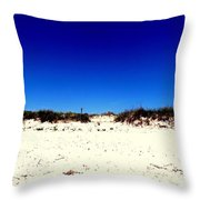 White Sand Blue Skies Throw Pillow
