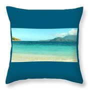 White Sand Blue Sky Blue Water Throw Pillow