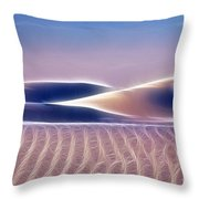 White Sands Abstract Throw Pillow