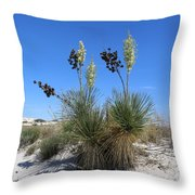 White Sands Dune With Soap Yucca Throw Pillow