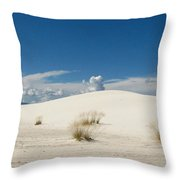 White Sands Landscape Throw Pillow