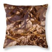 White Sands Lizard Throw Pillow