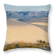 White Sands Morning #1 - New Mexico Throw Pillow