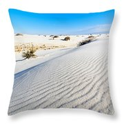 White Sands - Morning View White Sands National Monument In New Mexico. Throw Pillow