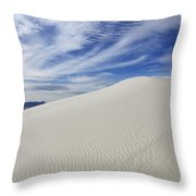 White Sands National Monument Big Dune Throw Pillow by Bob Christopher