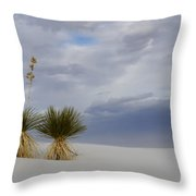 White Sands New Mexico Yucca Plants Throw Pillow