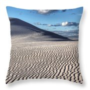 White Sands Patterns Throw Pillow
