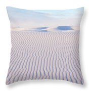 White Sands Serenity Throw Pillow