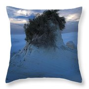 White Sands Turns Blue Throw Pillow