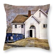 White School 1929 - Lawrence Kansas Throw Pillow