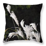 White Seed Throw Pillow