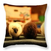 White Sheep Brown Sheep Throw Pillow by Ankeeta Bansal