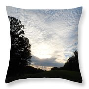 White Skies Above Throw Pillow