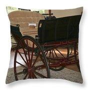 White Spring Carriage Throw Pillow