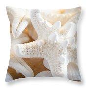White Starfish 2 Throw Pillow