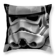 White Stormtrooper Throw Pillow by David Doyle