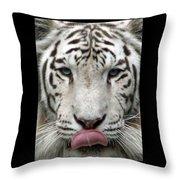 White Tiger - 02 Throw Pillow