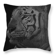 White Tiger At Night Throw Pillow