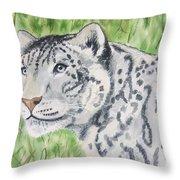 White Tiger Too Throw Pillow
