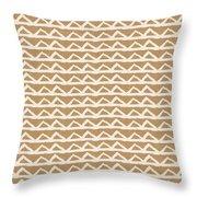 White Triangles On Burlap Throw Pillow