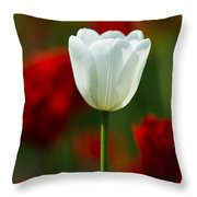 White Tulip - Featured 3 Throw Pillow