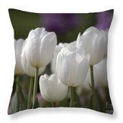 White Tulips 9169 Throw Pillow