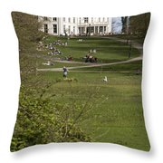 White Villa In Sonsbeek Park In Arnhem Netherlands Throw Pillow