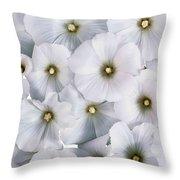 White Violets Throw Pillow