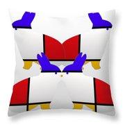 White Watch Throw Pillow