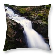 White Water Falling  Throw Pillow