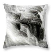White Water Falls Throw Pillow