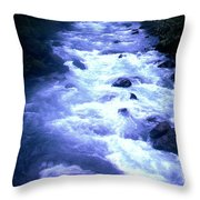 White Water Throw Pillow by J D Owen