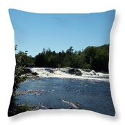 White Water On The West Branch Throw Pillow