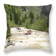 Animas River White Water Rafting The  Throw Pillow
