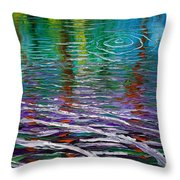 White Waves And Ripple Throw Pillow