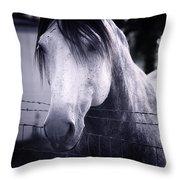 White Whisperer Throw Pillow