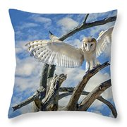 White Wide Wings Throw Pillow