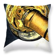 White Wine Art - Lap Of Luxury - By Sharon Cummings Throw Pillow