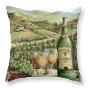 White Wine Lovers Throw Pillow by Marilyn Dunlap