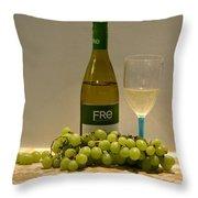 White Wine Still Life 1 Throw Pillow