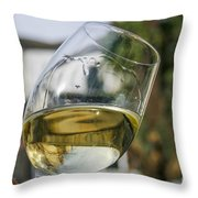 White Wine Swirling In A Glass Throw Pillow by Patricia Hofmeester