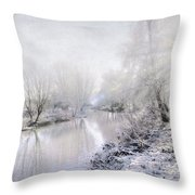 White Winter Throw Pillow